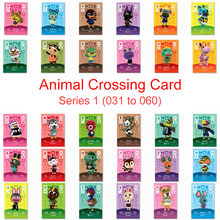 Series 1 (031 to 060) Animal Crossing Card Amiibo Card Work for NS 3DS Switch Game New Horizons Kiki Kabuki Punchy Villager Card