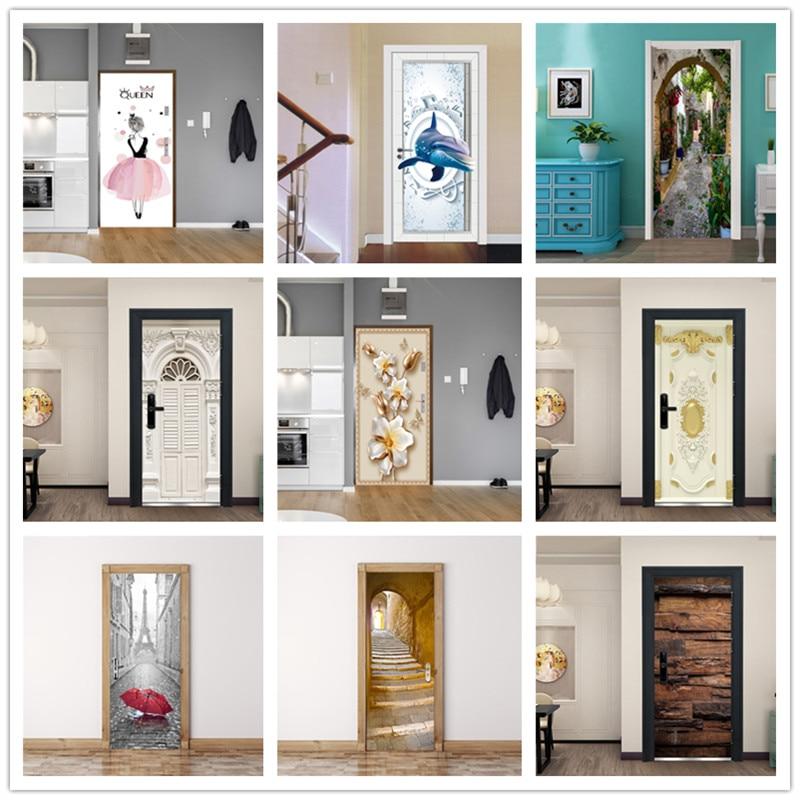 Removable 3D Door Sticker Decals Decor Vinyl Home Room Fridge Mural DIY #5