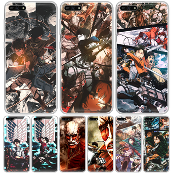 Attack on Titan Levi Rival anime Phone Case hull For HUAWEI honor mate 8 9 10 20 30 A S X i pro lite transparent waterproof image