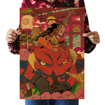 Anime Naruto psychic beast Toad kraft poster wall sticker room picture painting home decoration painting 51x36cm anime naruto kraft paper poster home wall sticker decoration painting room restaurant picture art painting painting