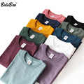 BOLUBAO brand Men Solid Color T-Shirt 2021 New Men Cotton Harajuku Casual T Shirt O-Neck Short Sleeve Tee Shirts Male Clothing