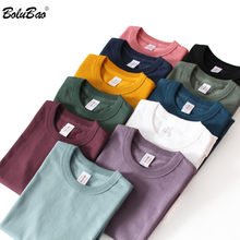 BOLUBAO brand Men Solid Color T-Shirt 2021 New Men Cotton Harajuku Casual T Shirt O-Neck Short Sleeve Tee Shirts Male Clothing