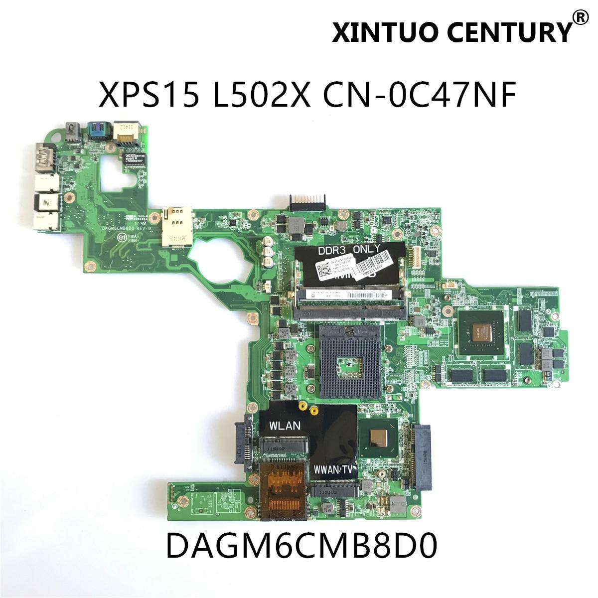 CN-0C47NF 0C47NF C47NF для Dell XPS 15 L502X Материнская плата ноутбука DAGM6CMB8D0 N12P-GE-A1 GT525M видеокарта 1 ГБ 100% тестирование работы