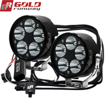 Led-Lights Auxiliary GOLDRUNWAY Motorcycle Lamp 50W 6000lm 12V for Car 4WD Truck SUV
