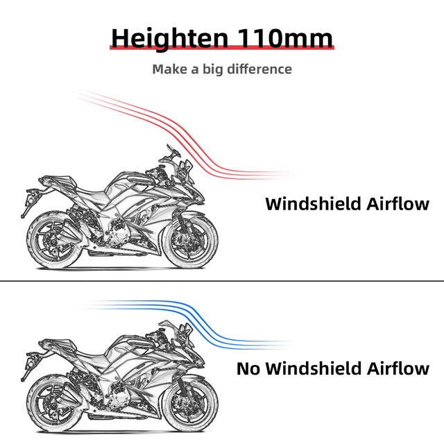 Universal Motorcycle Windshield 4
