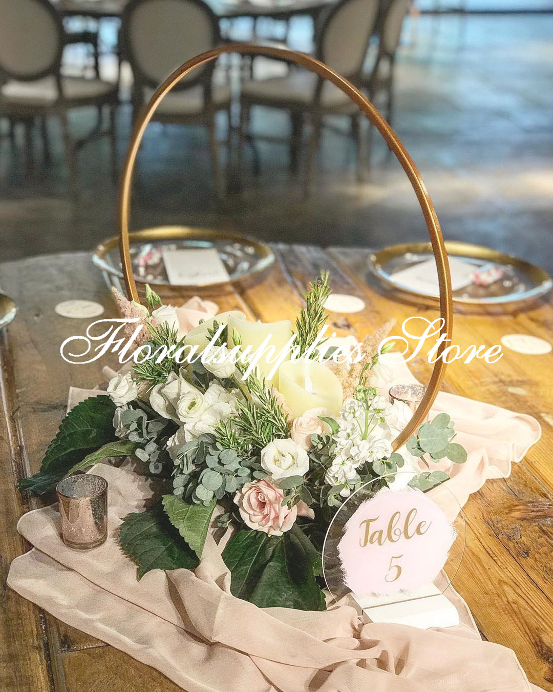 Hoop Centerpiece Wedding Floral Hoop Metal Gold Centerpiece Unique Floral  Arrangements For Table Christmasdecor Party Banners And Decorations Party  Birthday From Dalihua, $186.60| DHgate.Com