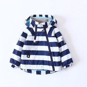 Image 2 - Coloré rayé chaud polaire bébé filles garçons vestes mode enfant manteau coupe vent vêtements dextérieur pour enfants enfants tenues pour 90 140cm