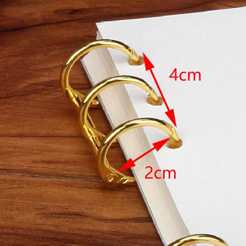 โลหะชุบหลวม Leaf Binder บานพับแหวนวงแหวนนิกเกิลโต๊ะปฏิทิน 3 แหวนสำหรับคีย์การ์ดอัลบั้ม