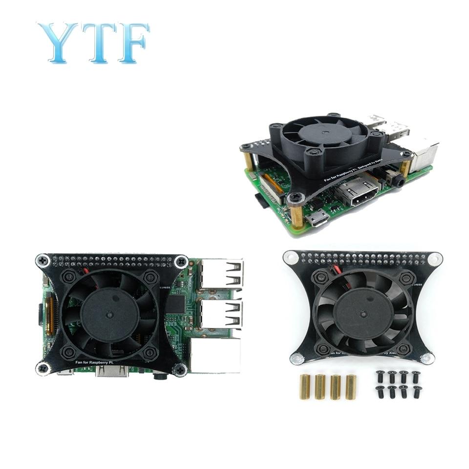 New Raspberry Pi 2 3 4 b + Silent Fan Heat Sink Wind Speed PWM Controllable