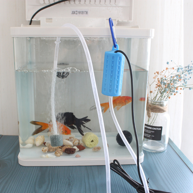 Mini USB Aquarium Fish Tank Oxygen Air Pump Quiet Energy Saving Supplies Aquatic Terrarium Fish Tank Accessories 3