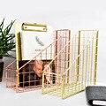 Нордическая INS настольная металлическая стойка для файлов для книг и файлов креативная металлическая стойка для файлов офисные принадлежн...