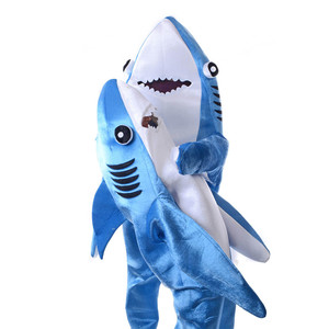 Image 2 - Kids Jumpsuit Cosplay Costume Shark Stage Clothing Fancy Dress Halloween Christmas Props Onesies for Adults Jumpsuit