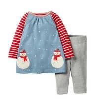 Bebê meninas roupas crianças conjuntos de roupas de natal crianças conjuntos de treino para meninas padrão animal bebê menina escola outfits 2-7y