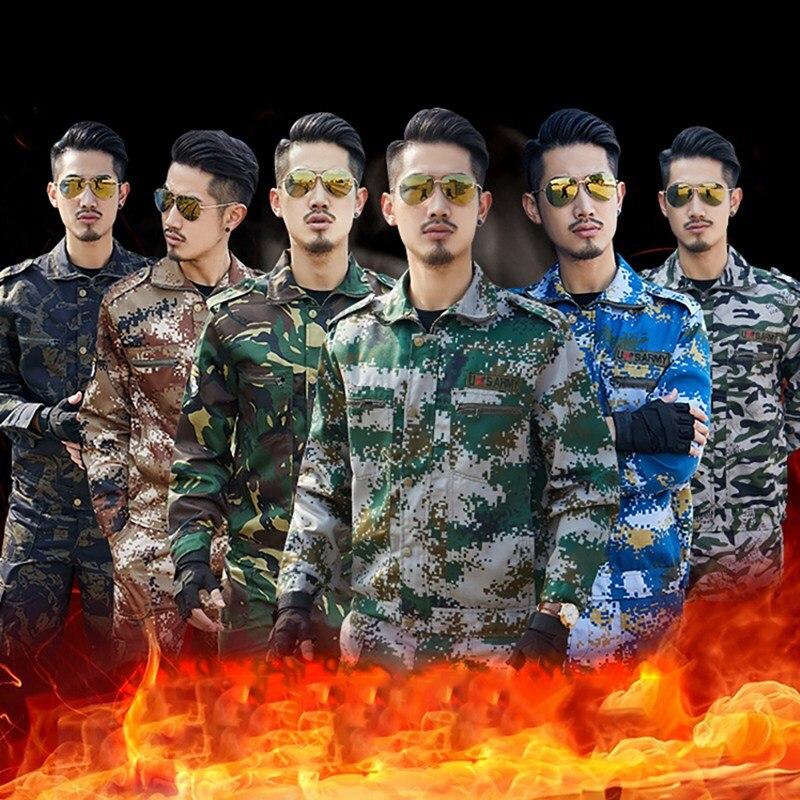 Uniforme t/áctico hombres de combate camisa y pantalones conjuntos con codo pad camuflaje uniforme militar traje para deportes al aire libre caza pesca