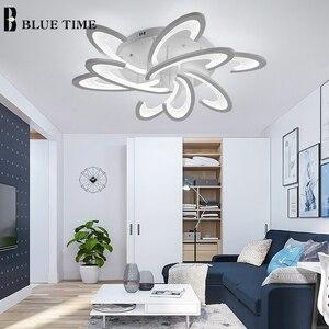Image 4 - Modern Led Ceiling Light Black White Frame Home Ceiling Lamp for Living room Dining room Kitchen Bedroom Lamp Lighting Fixtures