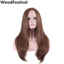 Blending long straight blonde wig heat resistant purple mixed color wigs synthetic hair for women WoodFestival fashion long straight 6h27h613 heat resistant synthetic hair extension for women