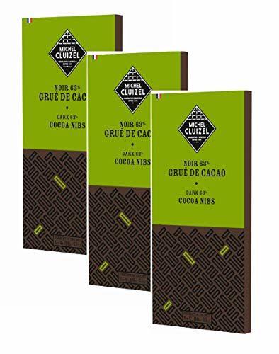 Michel Cluizel Chocolatier Tavoletta Cioccolato Fondente 63% Pennini Di Cacao Con Fave Origine Santo Domingo Puro Burro Di Cacao