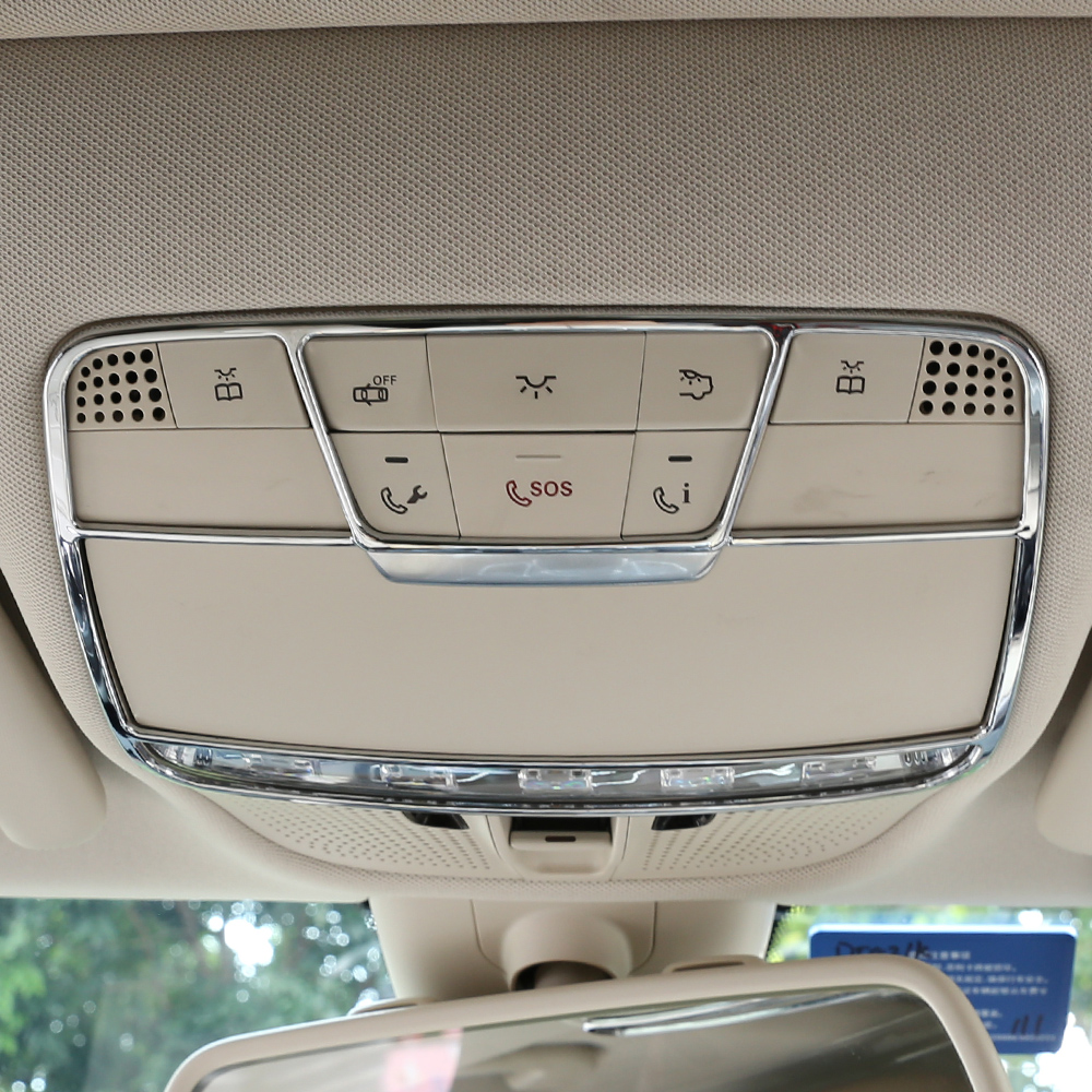 Car roof lamp frames ambient light reading light for W205 W213 <font><b>W222</b></font> <font><b>Mercedes</b></font> Benz C E <font><b>S</b></font> GLC <font><b>class</b></font> atmosphere no damage install image