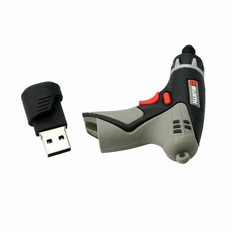 レンチモデル USB フラッシュドライブメモリスティック 4 ギガバイト 8 ギガバイト 16 ギガバイト 32 ギガバイト 64 ギガバイトペンドライブツールハンマークリエイティブペンドライブ蛇口電気ドリル