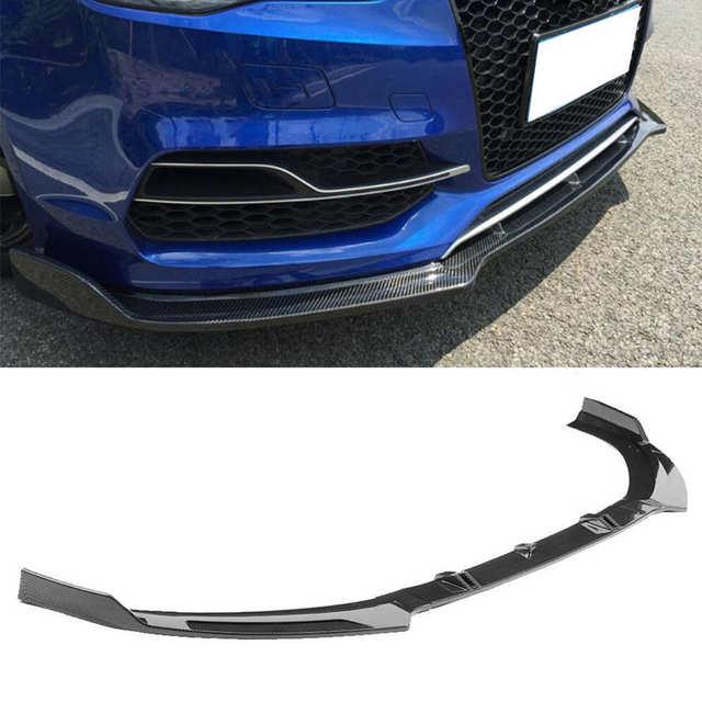 Car Front Bumper Lip Spoiler Chin Spoiler Diffusers Shovels Modification Fits for Audi A3/S3 8V 2014 2015 2016