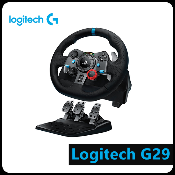 Logitech Driving Game-Accessory Packaging Computer Simulation Steering-Wheel Racing