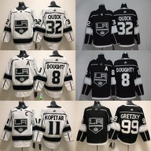 Free shipping stitched Los Angeles Mens adults#8 Drew Doughty 32 Jonathan Quick 99 Wayne Gretzky Jersey
