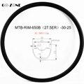 27 5 er обод для горного велосипеда симметричный XC 30x25 мм бескамерный дисковый тормоз 650b MTB углеродный обод 24H 28H 32H 36H
