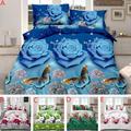 AsyPets 4 шт./компл. набор стильной кровати с 3D принтом  простыня  пододеяльник  наволочки  свадебное украшение на новоселье