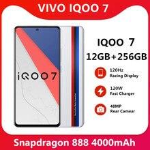 Original VIVO IQOO 7 12GB 256GB 5G teléfono inteligente 120W cargador Snapdragon 888 de 6,62