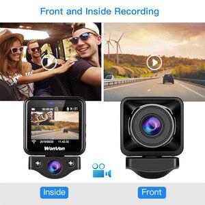 Image 4 - WonVon M5B kamera samochodowa 145 ° LCD 2.0MP Sony IMX307 IR Night Vision WiFi kamera na deskę rozdzielczą HD 1080P Dual DVR g sensor Loop Recorrding