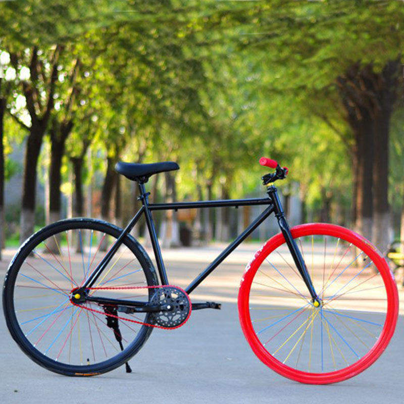 Fixed Gear Bicycle Bike 26 Inch 700C Fat Bike Retro Track Single Speed Color Frame Man Woman And Students 2019 New