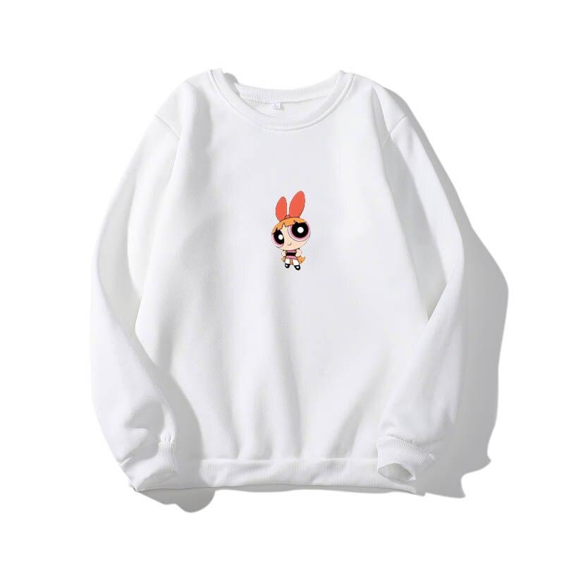 2019 Kawaii Girls Sweatshirt Women Hip-hop Ulzzang Street Hipster Fashion Sweatshirt Cartoon Print Hoodie Girls Autumn Fashion