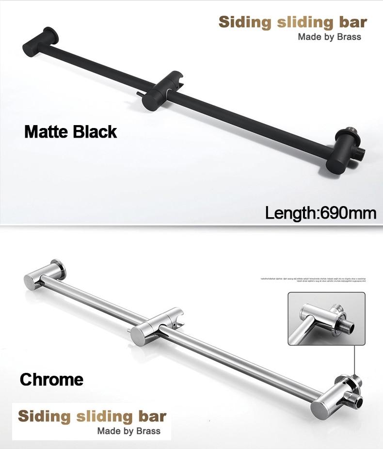 H5350a6d8688141a3adf405e827018ab4K M Boenn Music Shower System Rain ShowerHeads LED Shower Set Bathroom Faucet Thermostatic Valve Matte Black/Chrome Bath Mixer Tap