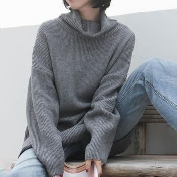 XUXI 2020 Fashion Women's Sweater Autumn Knitted Sweater Women's High Neck Long Sleeve Long Sleeve Sweater Loose FZ0414 10
