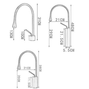 Image 5 - Brushed Golden Basin Faucet Single Lever 360 Rotation Spout Brass Mixer Tap For Kitchen Hot Cold Water Bathroom Basin Water Sink