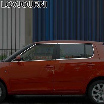 Car Window Exterior Auto Automobile Chromium Mouldings Decoration Accessories Protecter 08 09 10 11 12 13 14 FOR Skoda Fabia