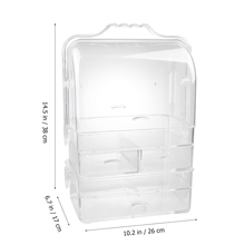 Acrylic Household Three layer Storage Cabinet Desktop Drawer Closet Multifunction Dustproof Cosmetic Jewelry Organizer Handle
