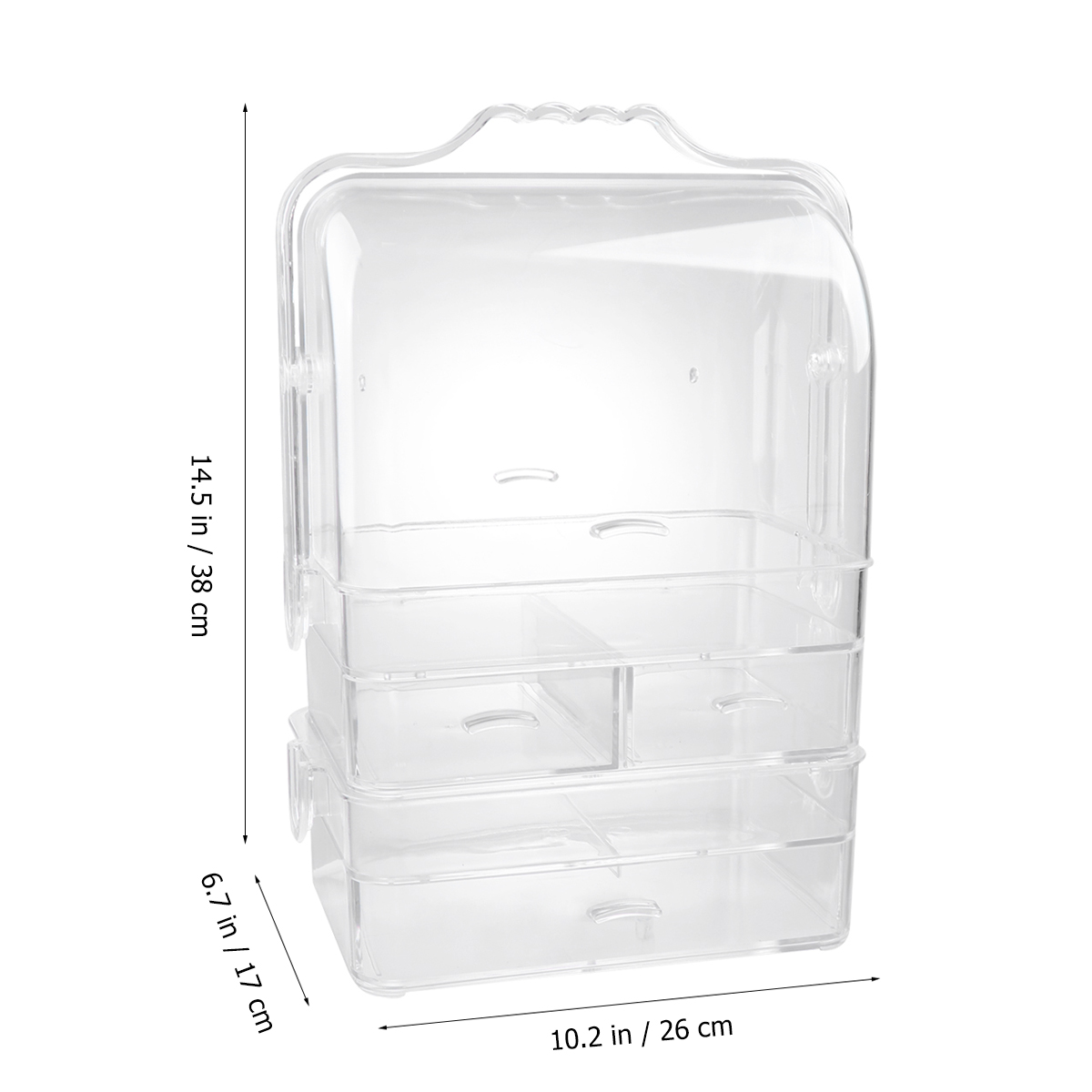 Acrylic Household Three layer Storage Cabinet Desktop Drawer font b Closet b font Multifunction Dustproof Cosmetic