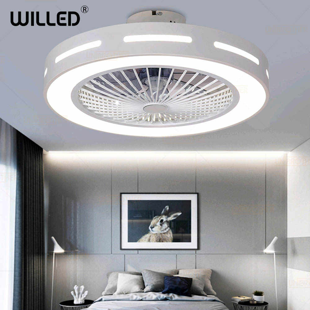 11cm Ceiling Fan Lamp With Controller Remote Control 11v White