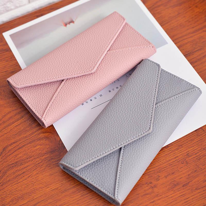 2020 New Fashion Women Wallets Leather Hasp Wallet Women's Long Design Purse Clutch Women Lady Wallet Cartera Mujer