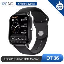 Умные часы DT NO.1 DT36, 1,75 дюйма, экран HD, ЭКГ + ФПГ, пульсометр, артериальное давление, монитор SpO2, калькулятор, управление музыкой, камерой