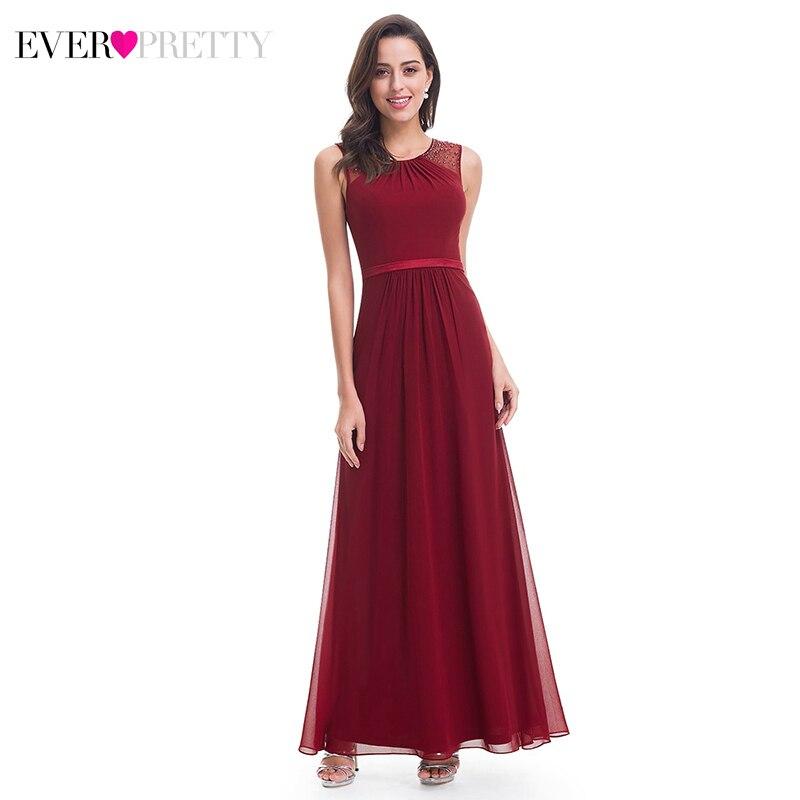Ever Pretty Elegant   Evening     Dresses   Ever Pretty A-Line O-Neck Beaded Sleeveless Cheap Formal Party Gowns Vestido Longo Festa