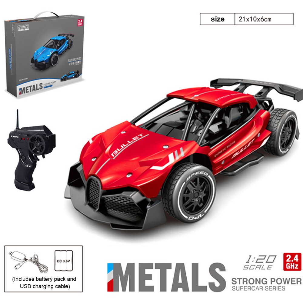 SHAREFUNBAY 1:16 4wd Rc Car High Speed Alloy Drift Racing Sports Car Model Rc Toy Rechargeable 2.4G Rc Car Children Toys