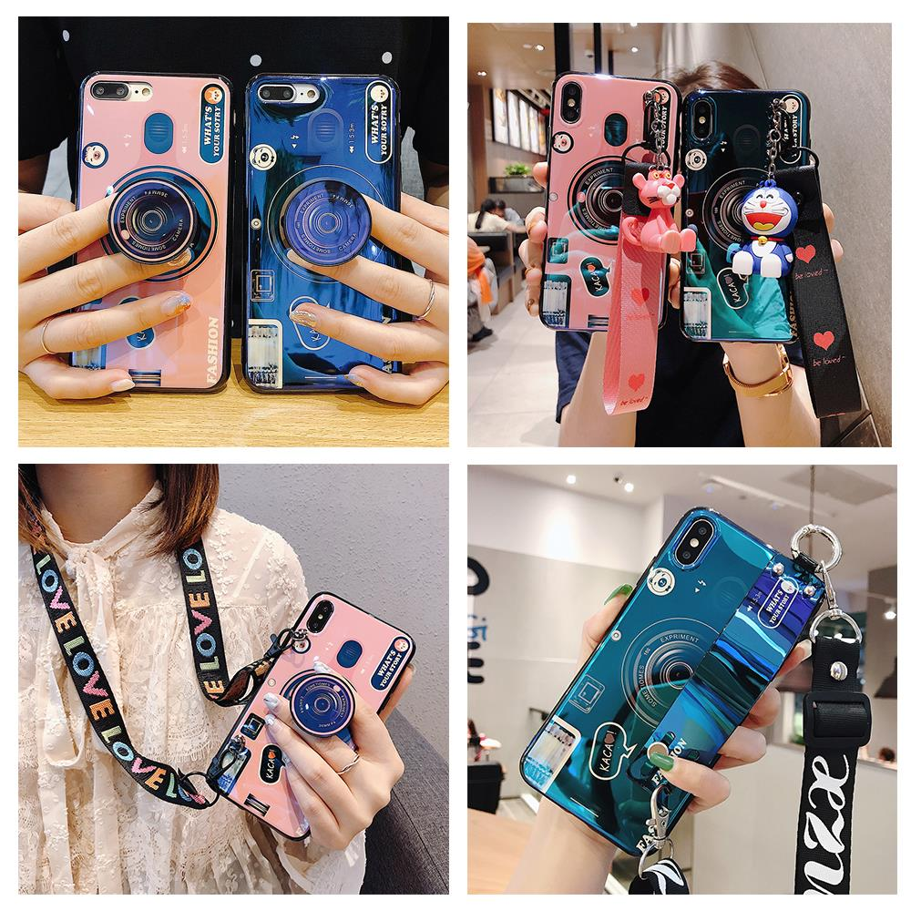 <font><b>Camera</b></font> Phone Holder Case for <font><b>Xiaomi</b></font> Redmi <font><b>5</b></font> Plus 5A 6 Pro 6A 7 Y3 7A 8 8A Lite GO Note 4 4X Soft Neck Wrist Strap Lanyard Cover image