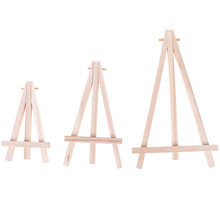 1pc Mini Wood Artist Tripod Painting Easel For Photo Painting Postcard Display Holder Frame Cute Desk Decor Drawing Toy 3Size