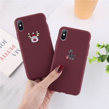 Ottwn Fashion Elk Pattern Phone Case For iPhone X XR XS 7 6 6S 8 Plus Max Chic Soft Silicone Back Cases Cover Shells