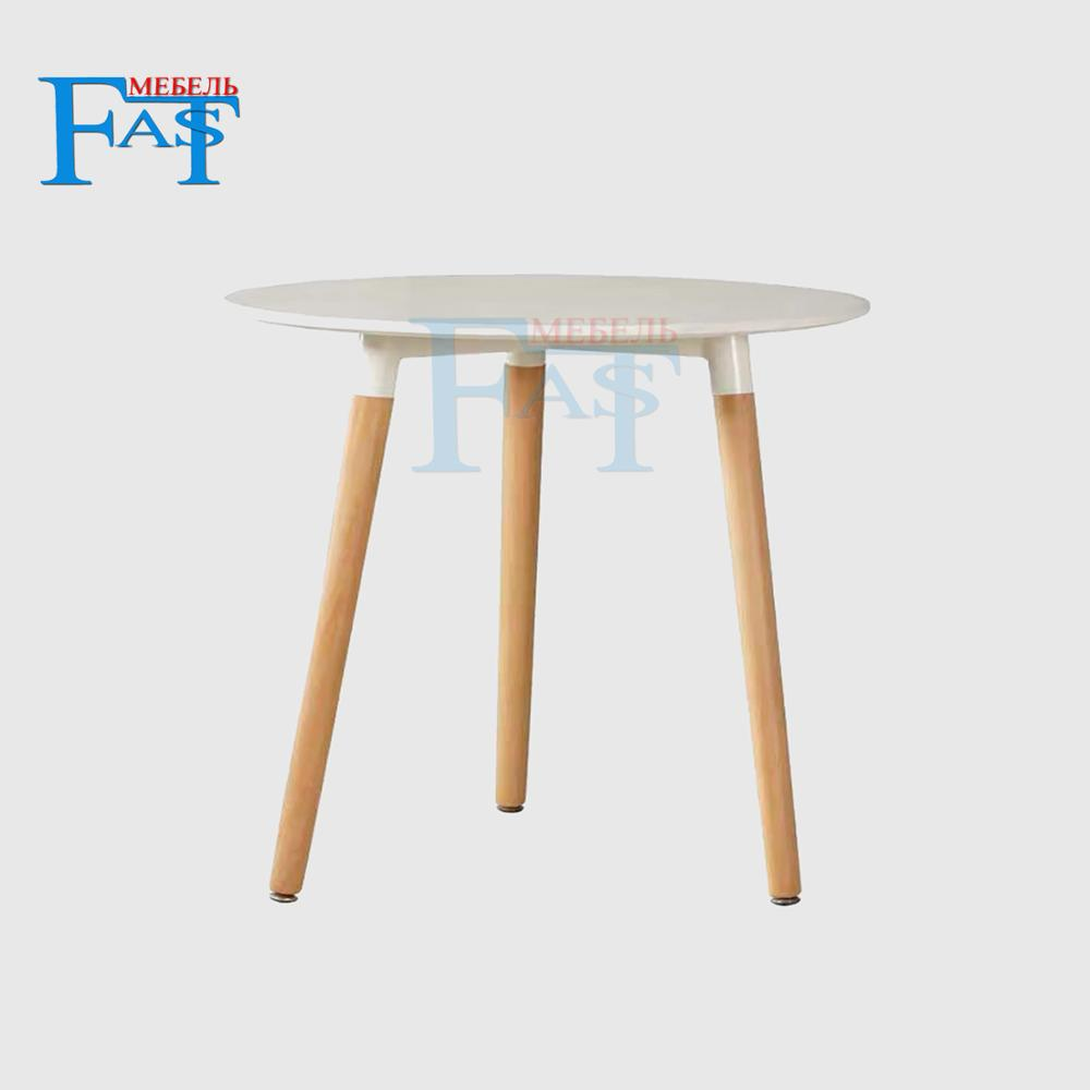 Home Dining Table White Paint Table On Beech Legs  Kitchen Table Round Table Modern Table