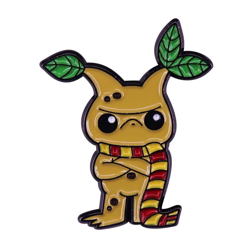 Grumpy House Мандраг брошь с Hufflepuff заколка на шарф коллекция волшебных растений для влюбленных