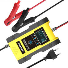 12V 24V 6A 7-stage Car Automatic Smart Battery Charger GEL WET AGM 12.6V Lithium LiFePO4