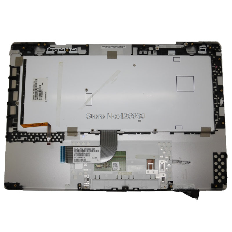 Laptop Palmrest for Sony VAIO VPC-SA VPCSA Series 024-0023-8024-A 9Z.N6BBF.00T Gray with Turkish TR Black Keyboard Backlit/&touchpad Upper case Used